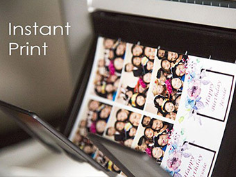 instant print photo booth rental