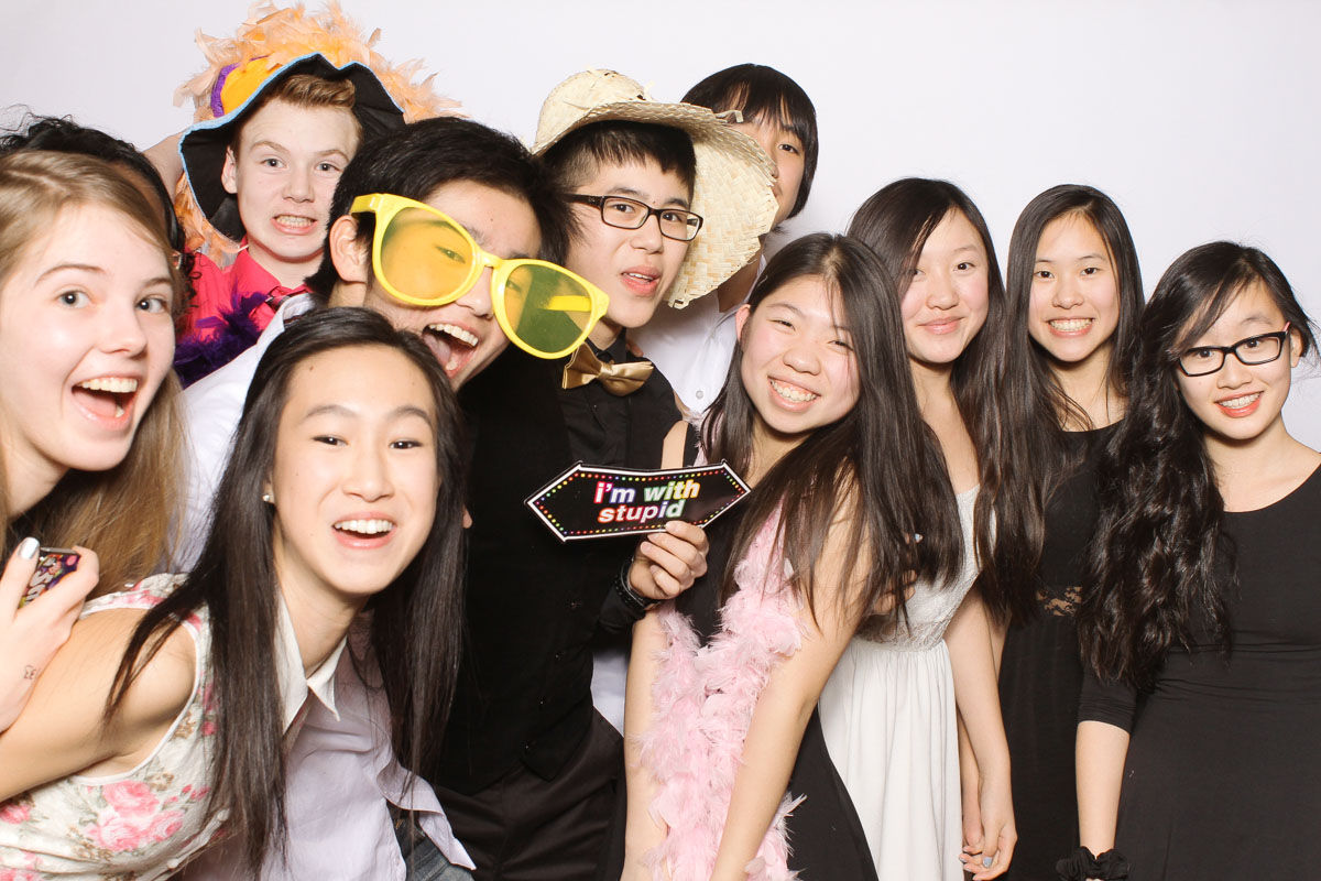 school prom photobooth