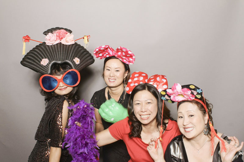 photo booth with creative props