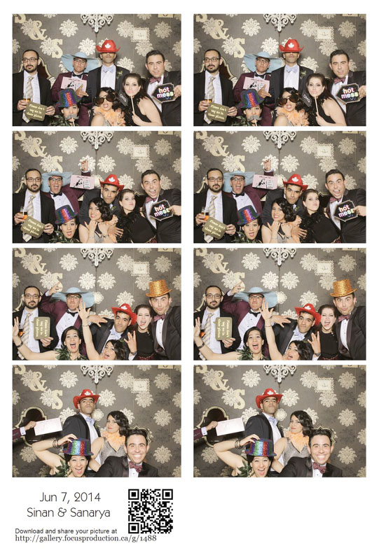 Photo Booth Rental with custom backdrop