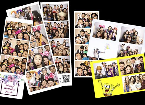 4r or classic photo booth strips for selection