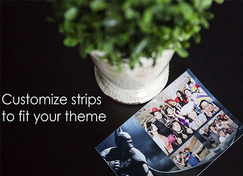 customized photo booth strips