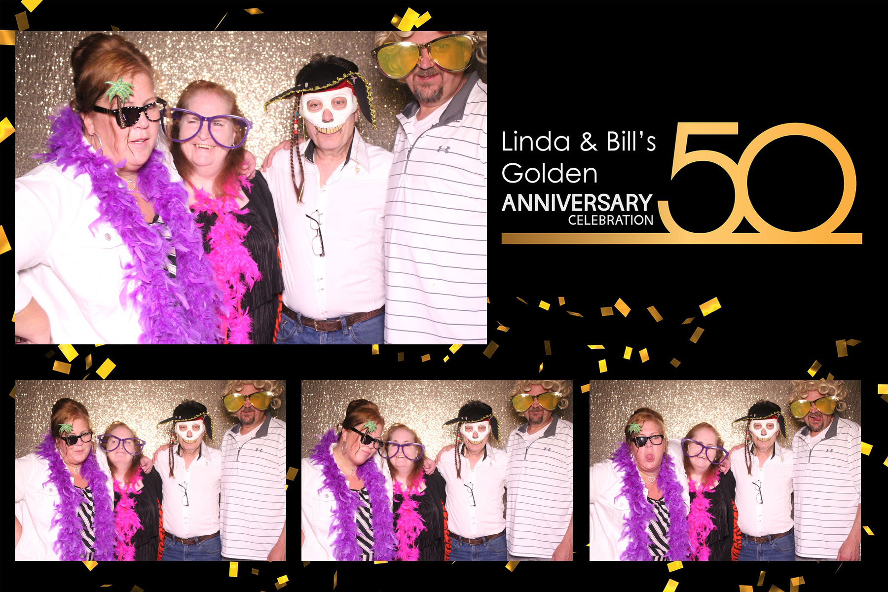 marriage anniversary celebration photo booth
