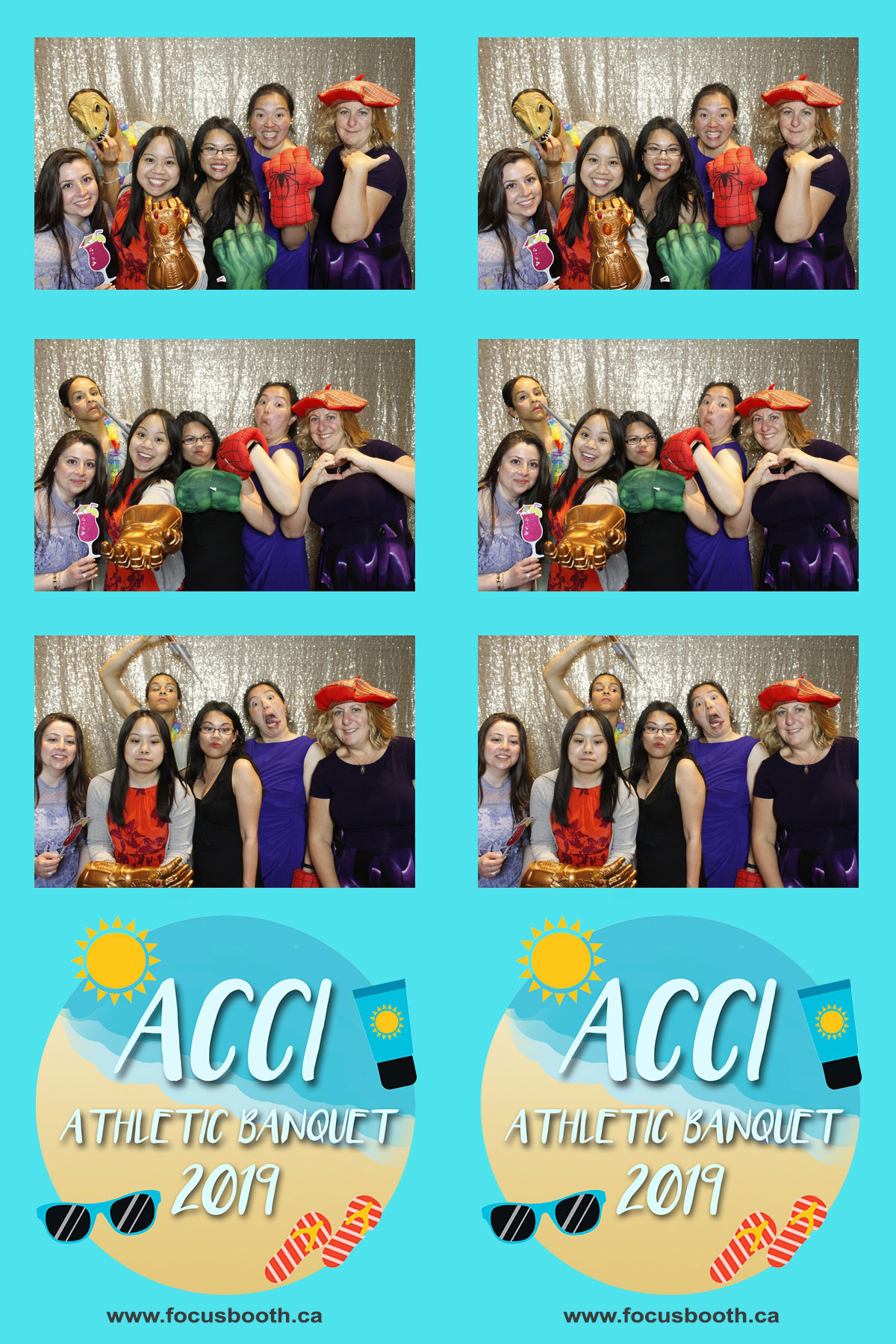 athletic banquet party event photo booth