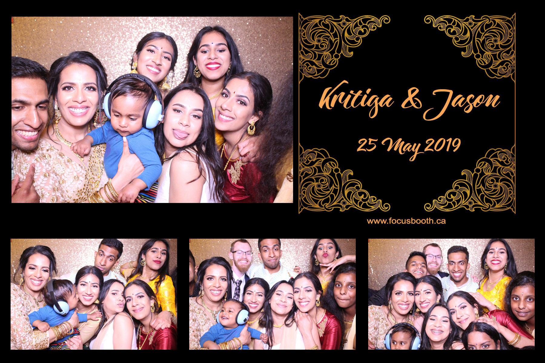 wedding celebration photo booth indoor