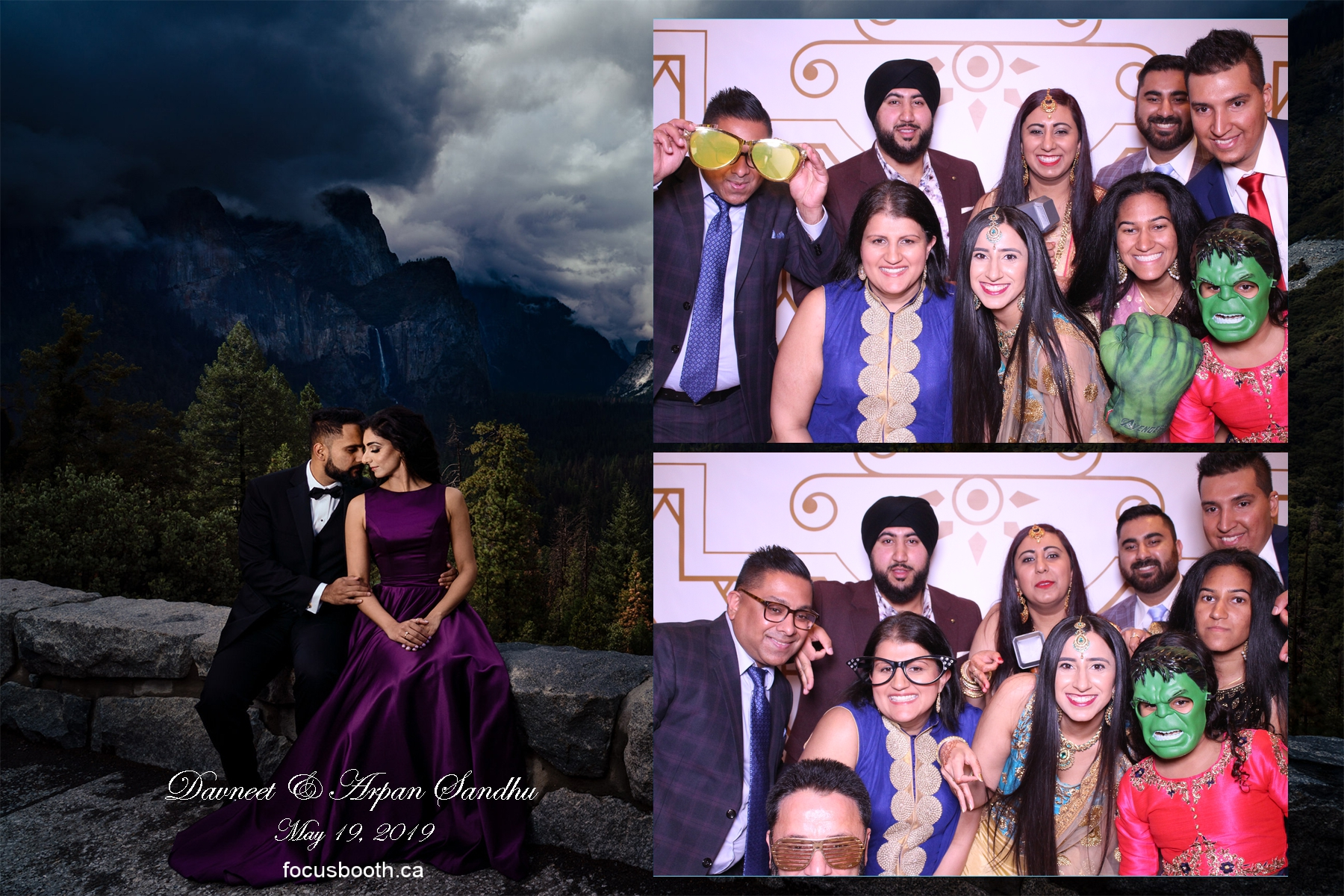 wedding party celebration event photo booth