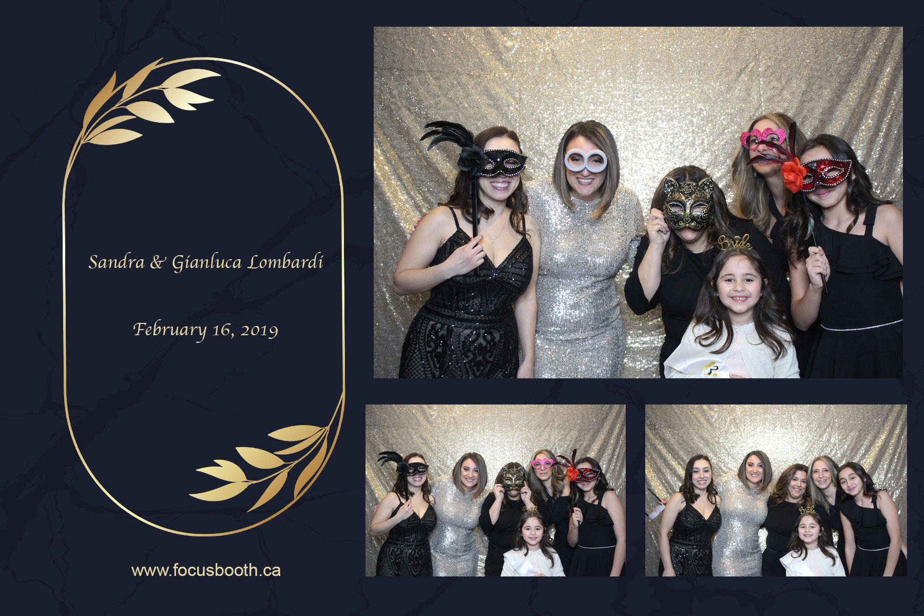 elegant wedding party photo booth toronto